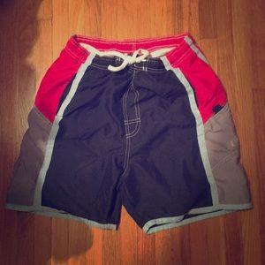 ✅ VINTAGE Color Block Swim Trunks Men's Red Size M